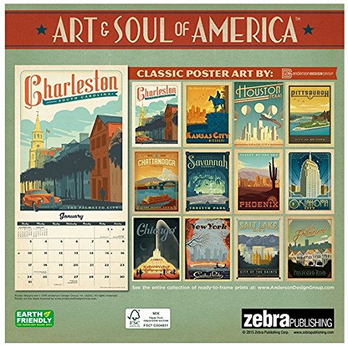 American Cities Classic Posters - 2016 Calendar 12 x 12in Photo #3