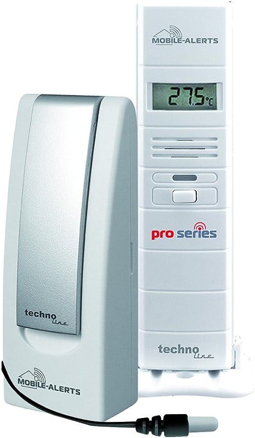 Technolina, control de temperatura y control de la humedad en tu sauna, termómetro, higrómetro de sauna, alertas móviles, transmisión de datos y alerta a tu smartphone, color blanco, 3, 8 x 2,