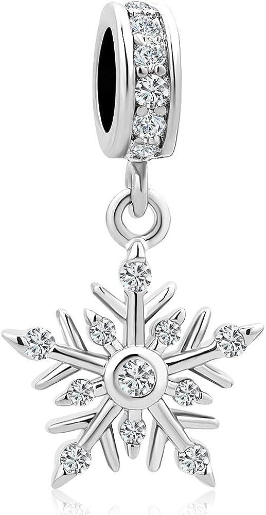 Breloque pendante flocon de neige pour bracelet. Korliya