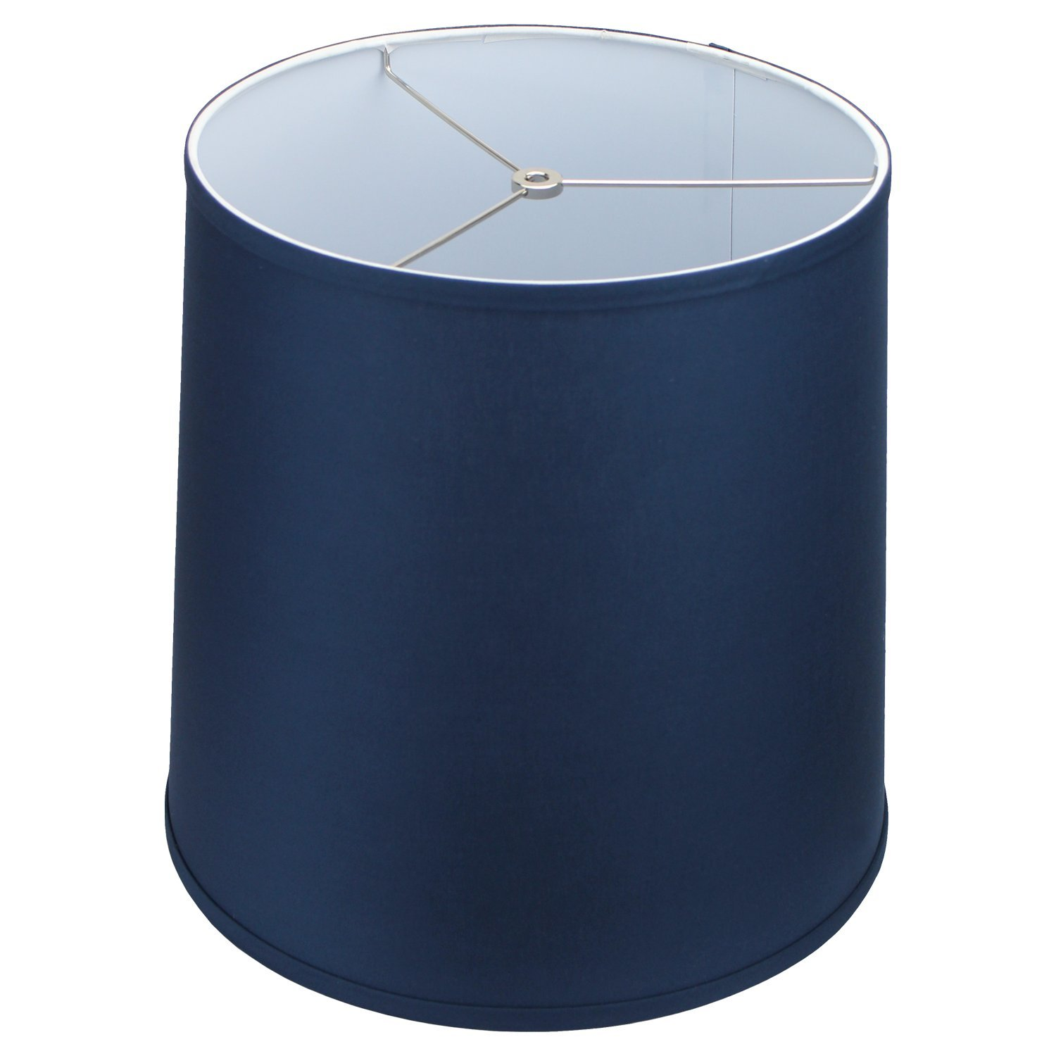 FenchelShades.com Lampshade 13'' Top Diameter x 15'' Bottom Diameter x 15'' Slant Height with Washer (Spider) Attachment for Lamps with a Harp (Navy Blue)