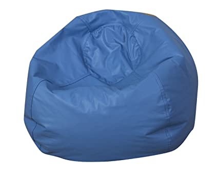 Surprising Amazon Com Childrens Factory 35 Round Bean Bag Blue Alphanode Cool Chair Designs And Ideas Alphanodeonline
