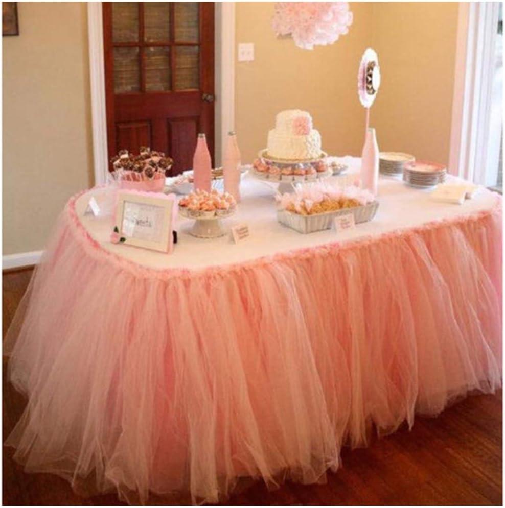 Brilliant Amazon Com Handmade Tutu Table Skirt Tulle Tableware For Baby Funny Birthday Cards Online Overcheapnameinfo