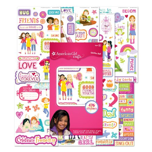 American Girl Stickers - American Girl Crafts Girls Sticker Pad