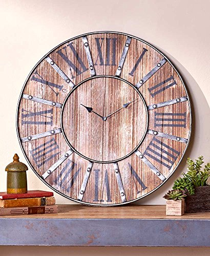 The Lakeside Collection Rustic Farmhouse Clock - vintage farmhouse decor