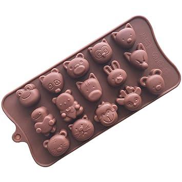 Molde de silicona para repostería de chocolate, gelatina, dulces, molde para manualidades,