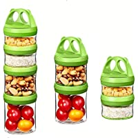 PREMIUM QUALITY Baby Food Storage Containers Portable and Stackable 4-Piece Twist n' Lock food Storage Jar for Healthy…