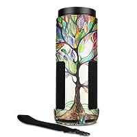 Fintie Amazon Echo Hülle - Premium Kunstleder Schutzhülle Case Tasche mit Abnehmbarem Band für Amazon Echo, Liebesbaum
