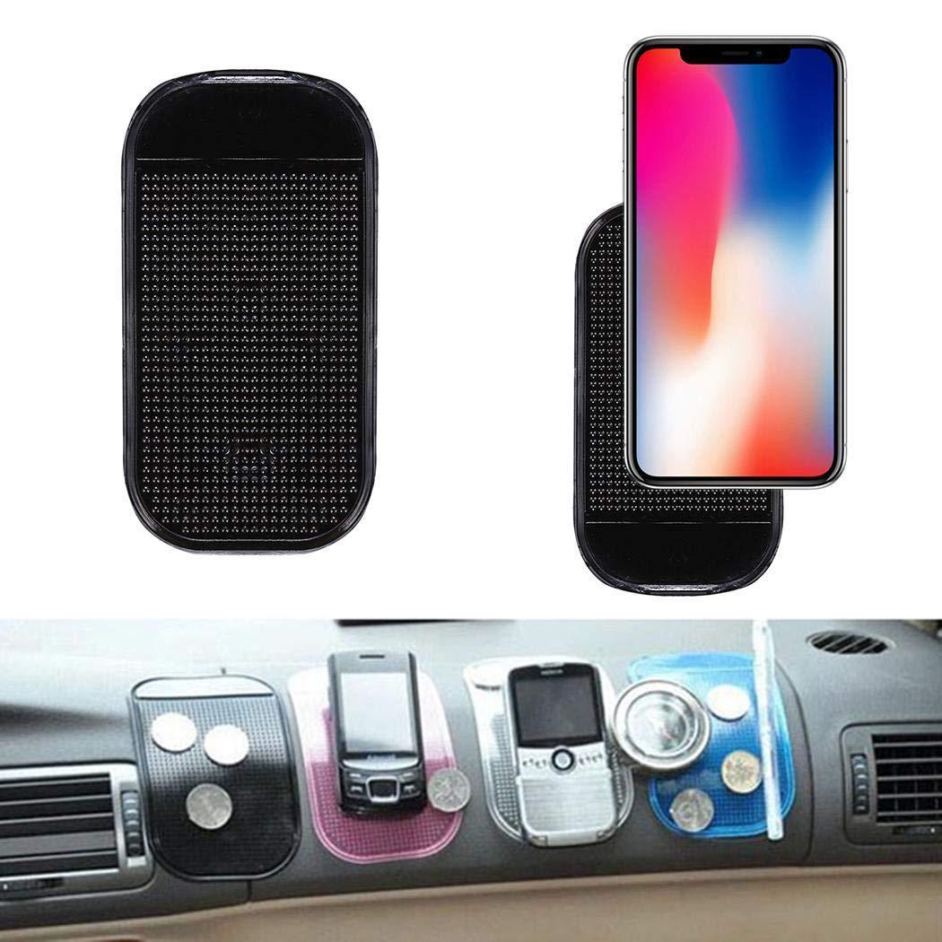 Wanbigo Reusable Sticky Pad Car Anti-Slip Phone Mat Heat Resistant Non-Slip Mats Holder Grip for Cell-Phone - 5pcs / Pack by Wanbigo