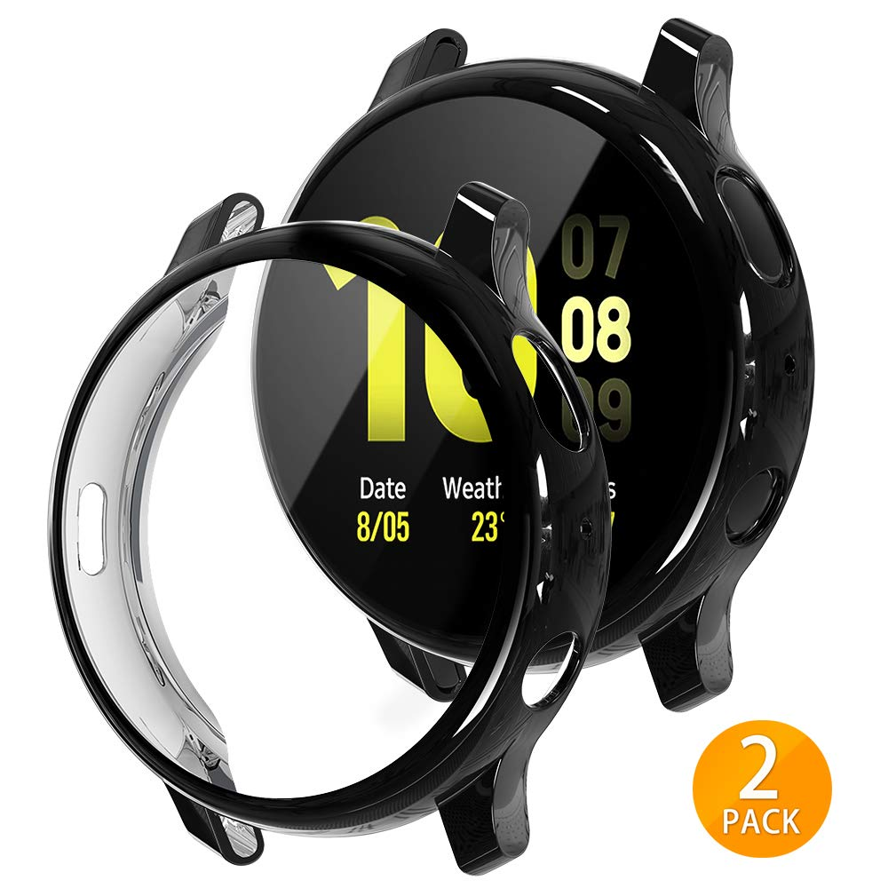 2 fundas para samsung watch active 2 negras