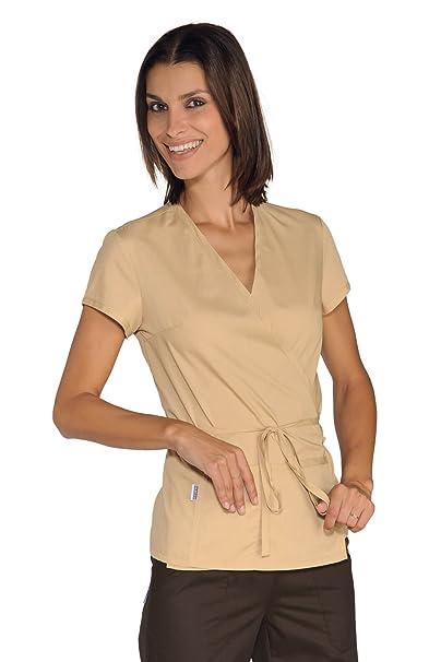 Isacco-túnica Esthéticienne-Kimono, Color Beige: Amazon.es: Ropa y accesorios