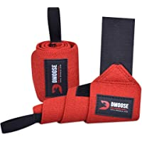 DMoose Wrist Wraps for Weightlifting 12 and 18 Inches Thumb Loops with Wrist Support for Workouts Powerlifting Wrist…