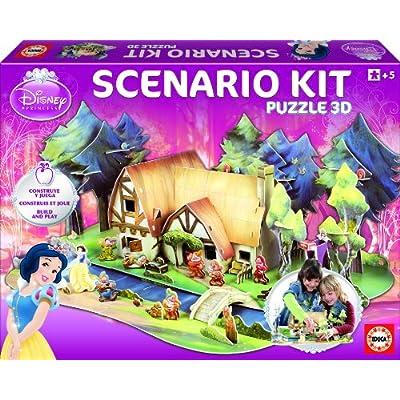 Educa 15124 Kit Scenario Biancaneve Grande 3d Puzzle