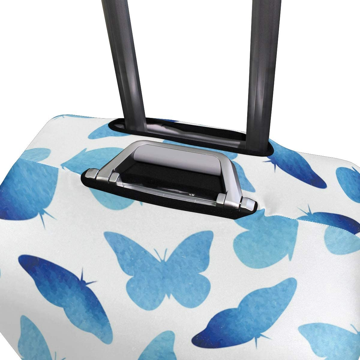 Travel Luggage Cover Blue Butterflies Flying Suitcase Protector