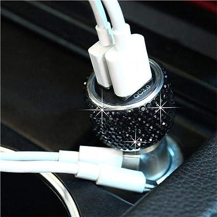 Volwco - Cargador de Coche con Doble USB para decoración de ...