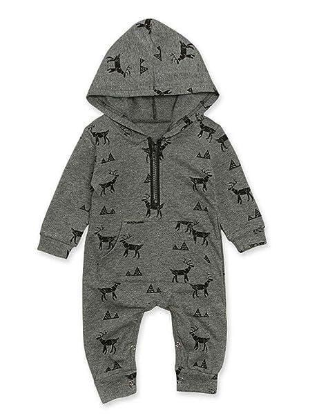 Frecoccialo - Pelele con Capucha para bebé, diseño de Ciervo ...