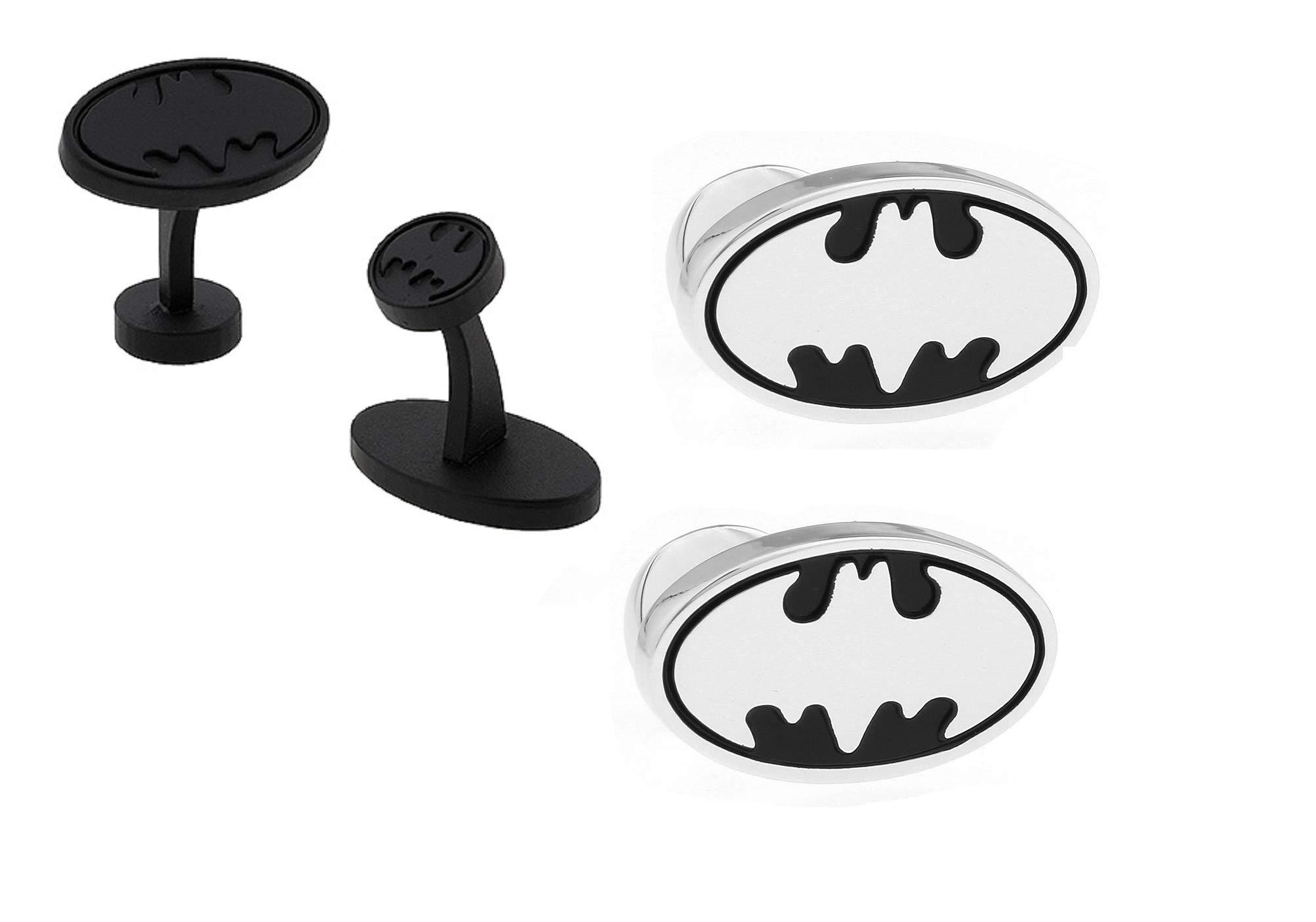 PONTITIES Batman-Bat Signal Set of 2 Pairs (Black and Silver)