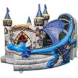 Kids Bouncy Castle with Dragon Age Slide - Commercial Bouncy Castle 1031