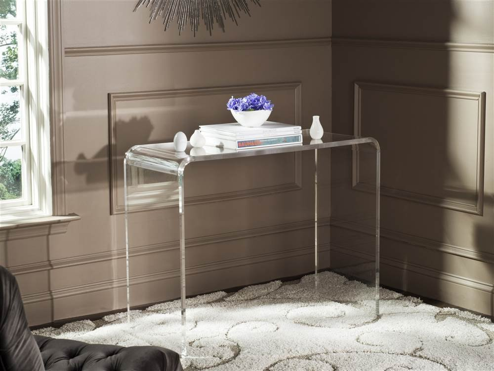 Safavieh FOX6016A Home Collection Atka Console Table, Clear