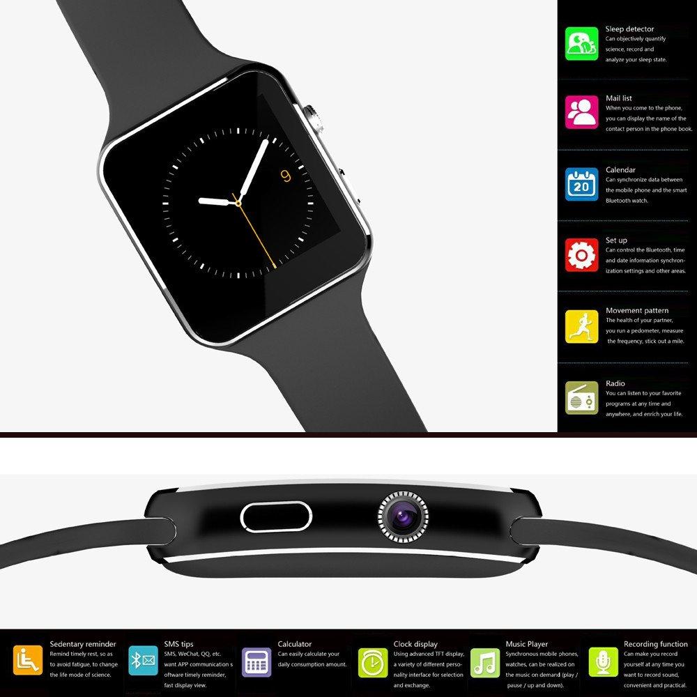 Piebo Smart Watch Gel de sílice 2018 X6 BT3.0 gsm SIM del ...