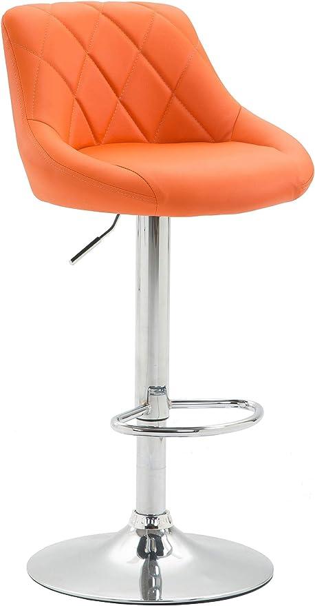 Tabouret de Bar LAZIO en Similicuir Chaise de Comptoir Rembourrée Hauteur Réglable Tabouret Haut de Style Industriel Tabouret de Café,