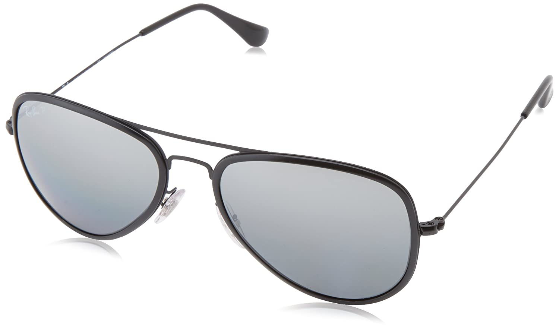 c55edef78 Ray-Ban RB3513M Aviator Flat Metal Polarized Sunglasses Sanded Black - size  One Size: Amazon.co.uk: Clothing