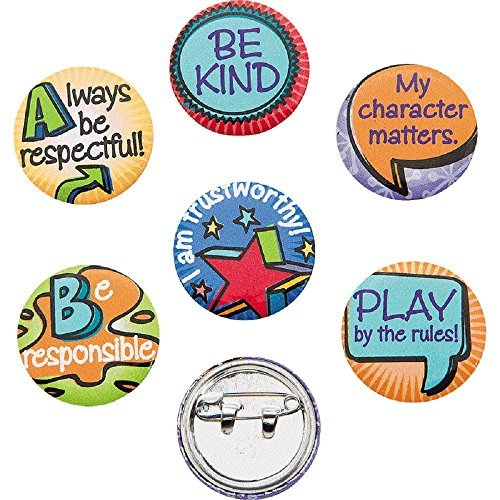 48 ~ Good Character Mini Buttons ~ Approx. 1