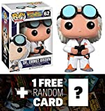 Dr. Emmet Brown : Funko POP! x Back to the Future Vinyl Figure + 1 FREE Classic Sci-fi & Horror Movies Trading Card Bundle [33990]