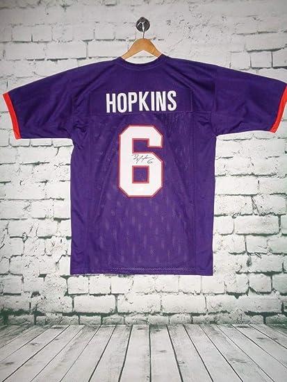new product db6d5 5e37f Deandre Hopkins Autographed Signed Clemson Tigers Purple ...