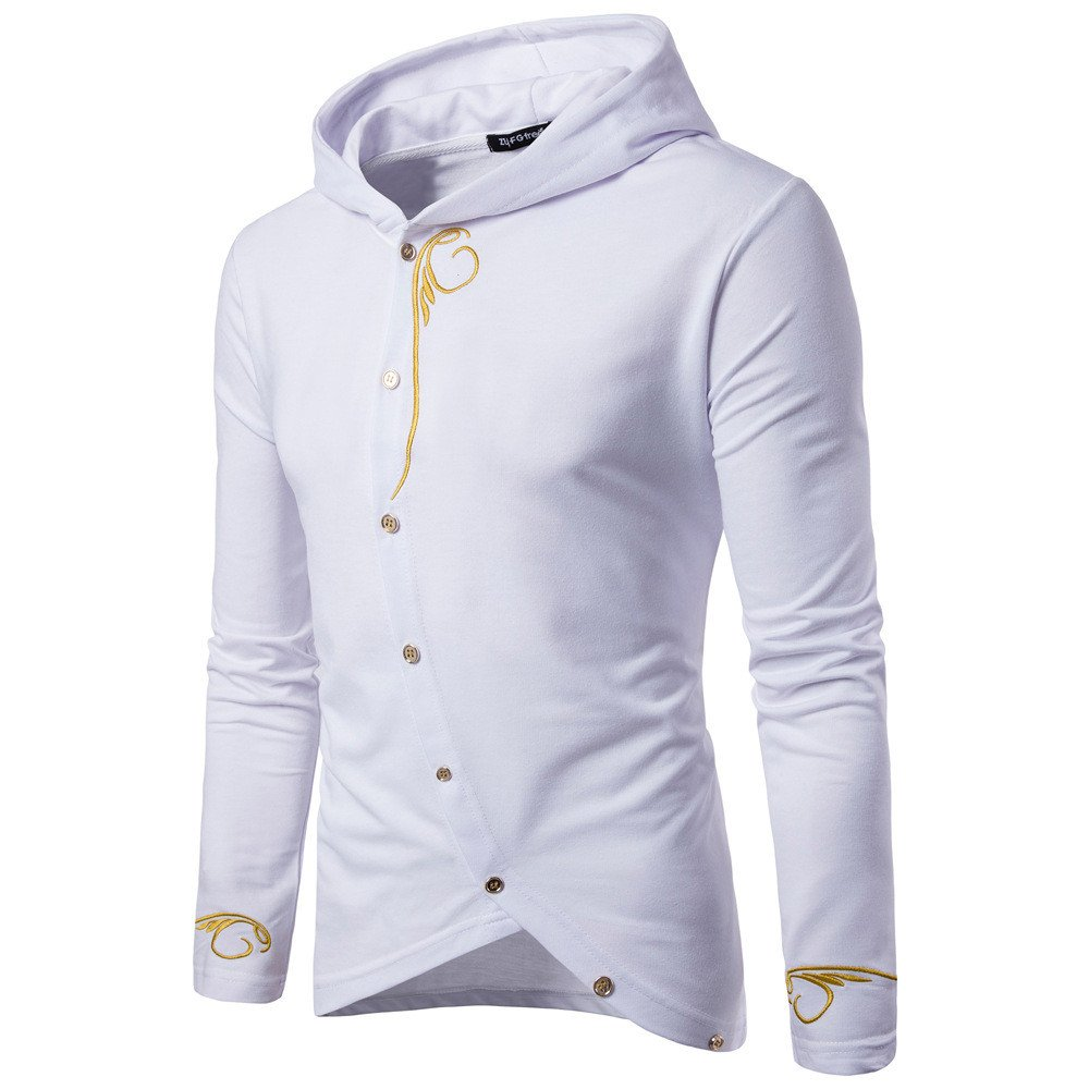Graphic Tees For Men Charberry Hooded Sweater Student Trend Loose Jacket Long Sleeve Solid Color Coat