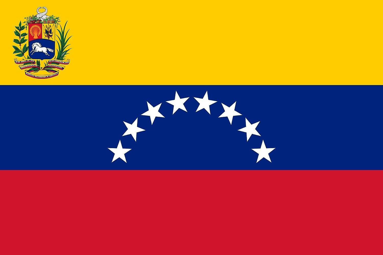 Nacional de Venezuela Bandera de País – 3 pies por 5 pies de poliéster (nuevo): Amazon.es: Jardín