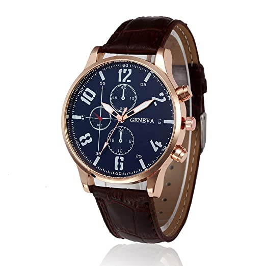 Luxury Watches for Men DYTA Business Watches with Silver Stainless Steel Case Leather Strap Under 10