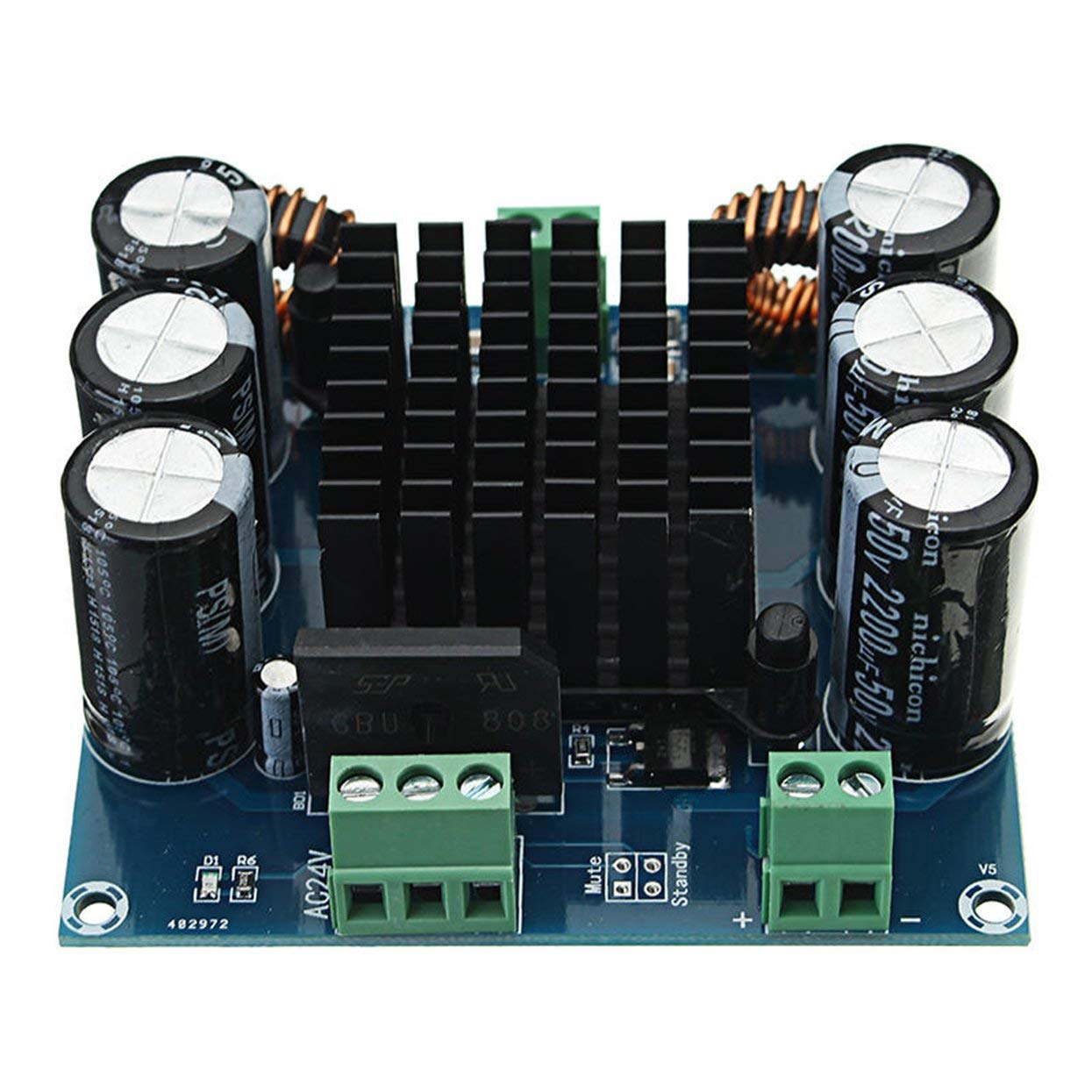 XH-M253 420W Mono Digital Amplifier Board TDA8954TH BTL Mode Module Board Mono Amplifier Board LoveOlvidoY