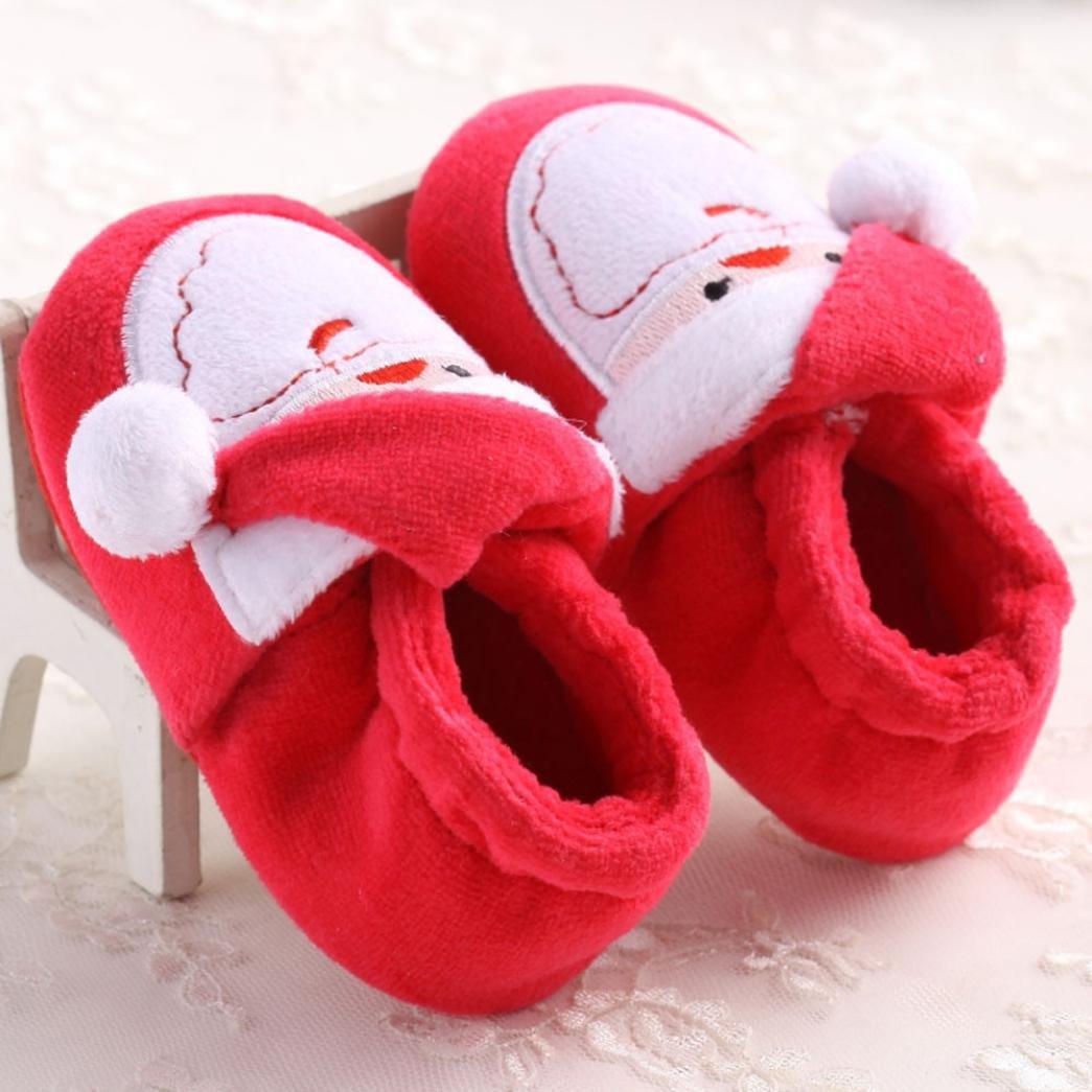 Celendi Santa Claus Soft Sole Boots Baby Prewalker Christmar Shoes