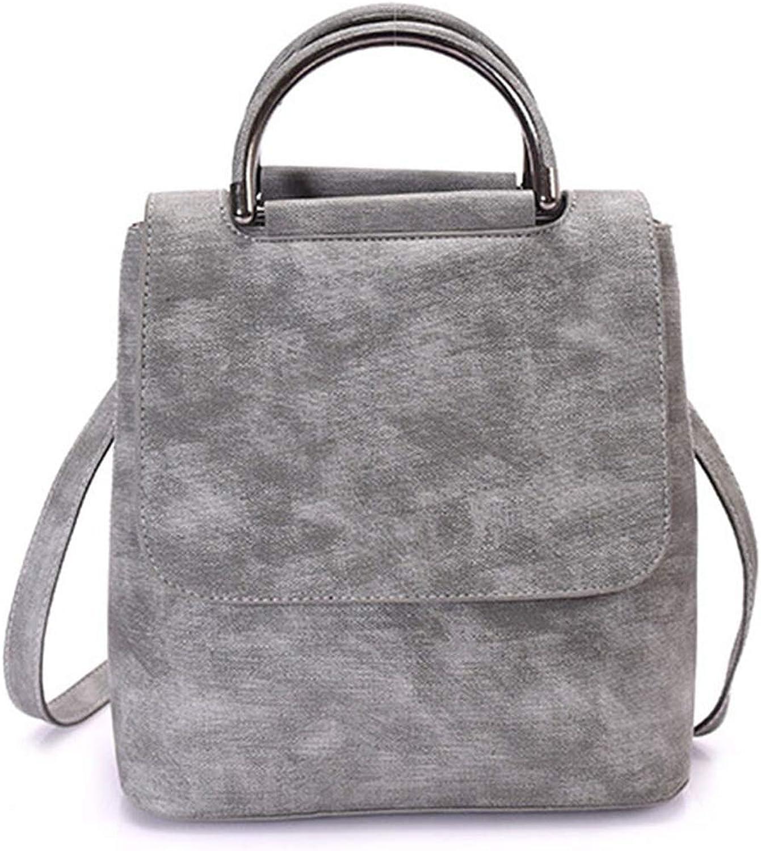 Vintage Women Leather Backpack For Female Teenager Girl School Backpack Multifunctional Shoulder Bags