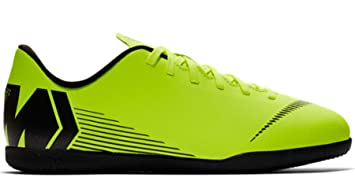Nike Botas de Fútbol Sala Mercurial Vapor Series Suela Lisa Amarillo Fluor/Negro Niño