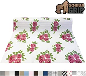 Gorilla Grip Original Smooth Top Slip-Resistant Drawer and Shelf Liner, Non Adhesive Roll, 17.5 Inch x 20 FT, Durable Kitchen Cabinet Shelves Liners for Kitchens Drawers and Desks, Vintage Rose Pink