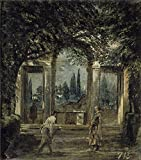 High Quality Polyster Canvas ,the Replica Art DecorativePrints On Canvas Of Oil Painting 'Velazquez Diego Rodriguez De Silva Y The Medici Gardens In Rome (II) Ca. 1630 ', 20 X 23 Inch / 51 X 58 Cm Is Best For Nursery Gallery Art And Home Artwork And Gifts