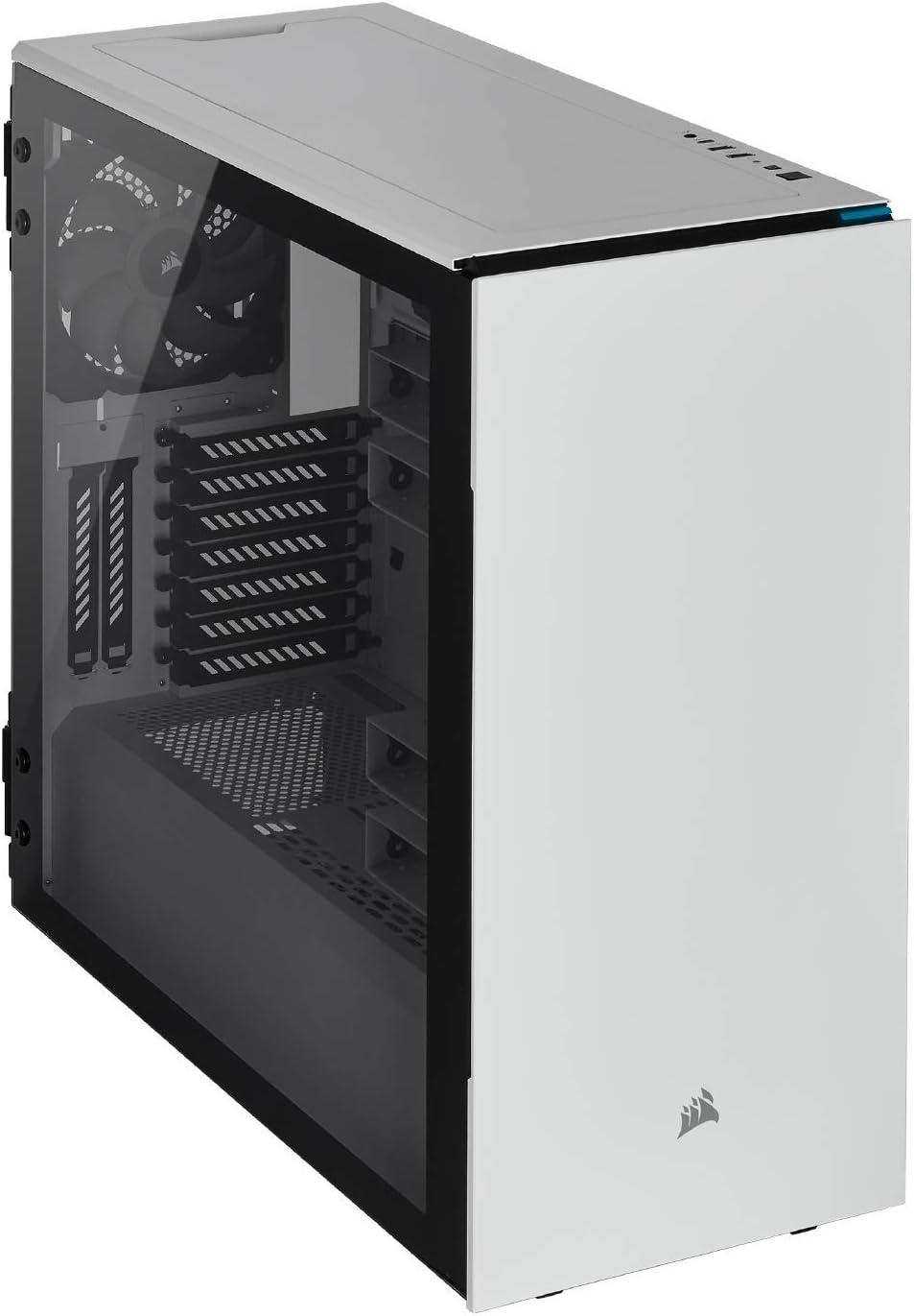 Corsair Carbide Series 678C Low Noise Tempered Glass ATX Case, White