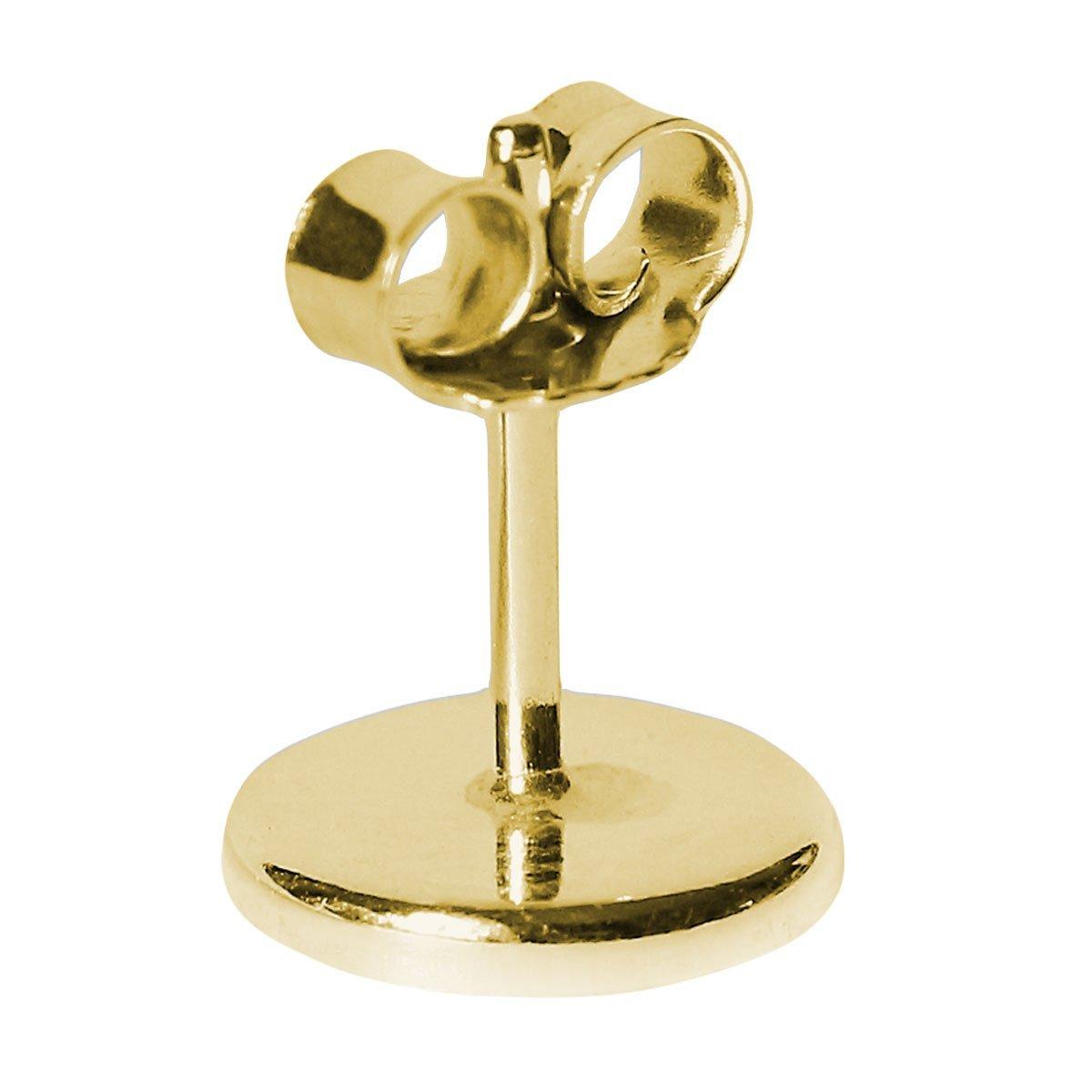 10 x Ohrstecker Rohlinge 925er Silber rosévergoldet 14ct Cabochon Fassung 4-12mm
