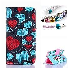 Galaxy S5 MINI Case,CocoZ® New Samsung Galaxy S5 MINI Case High Quality PU Leather Wallet Flip Credit Card Holder Money Slot Case [Kickstand] (Love)