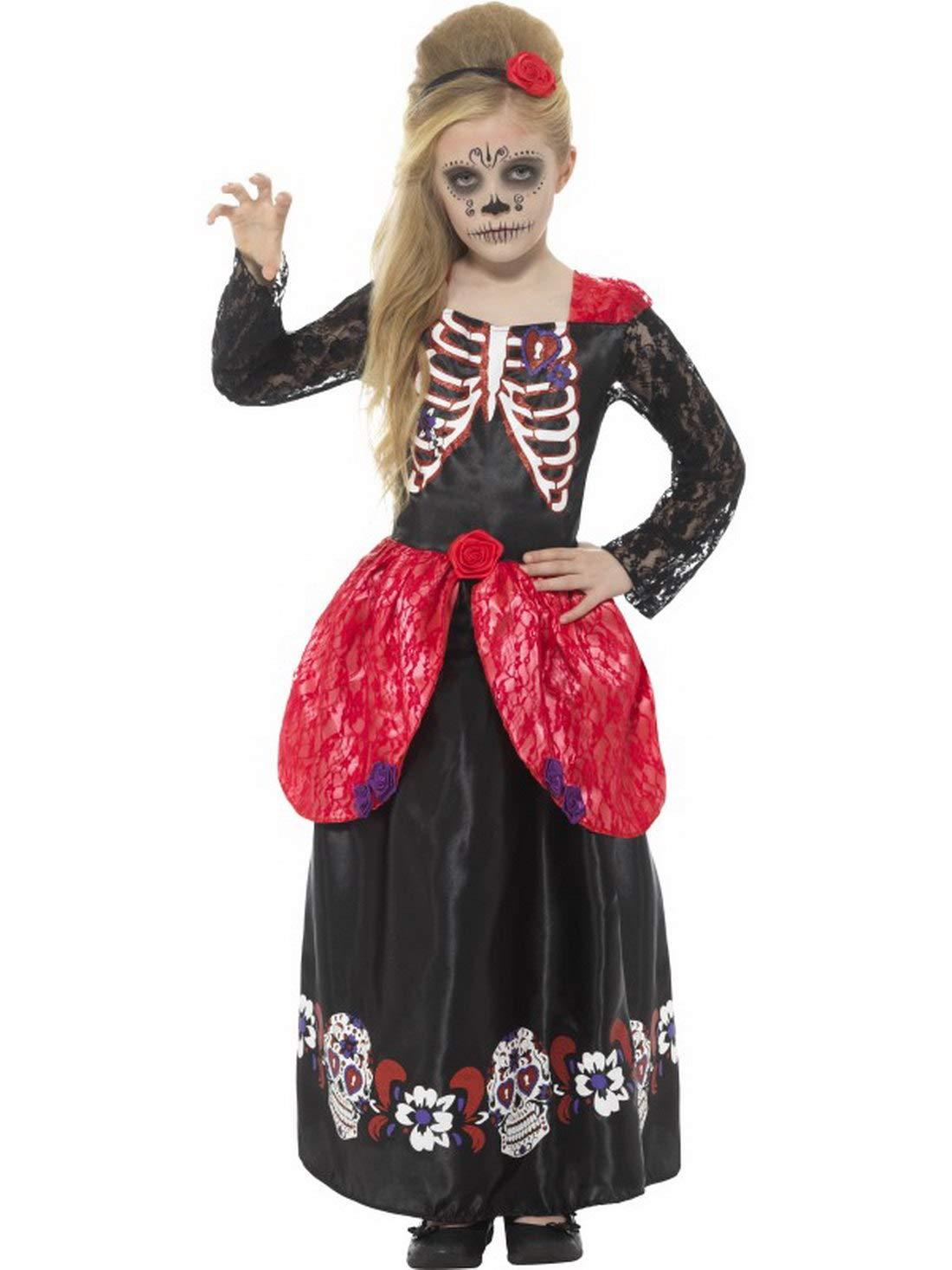 Halloweenia - Niña Infantil Disfraz Día de los Muertos ...