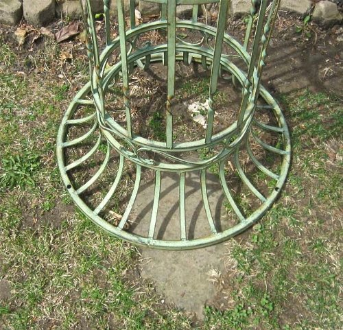 Garden-Trellis Arch 9' Tall - Wrought Iron - Antique Mint Green Finish by SERENDIPPITY (Image #5)