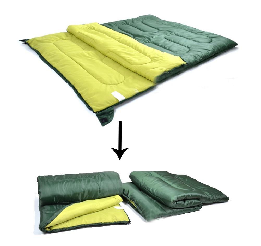 pareja saco de dormir de algodón envuelva solo adulto separable para acampar al aire libre: Amazon.es: Deportes y aire libre