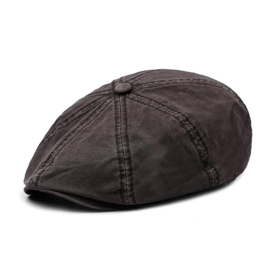 New Spring Casual Octagonal Hats Men and Women Outdoor Stroll Sun Hat Fashion Thin Wash Cotton Octagonal Cap by Moktasp