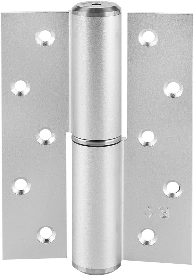 NITRIP 5inch Hydraulic Doorcloser H-Shaped Mute Hydraulic Hinge Doorcloser Right Open Closing Hinge Door Closer Sand Silver for Residential Commercial Use