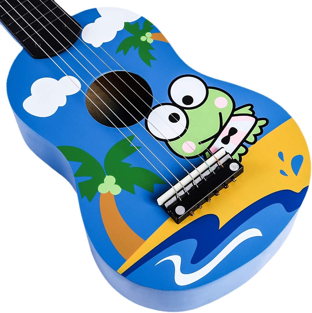 Seciie 6-String Kids Music Guitar Toy 21 Inches Children Wooden Musical Guitar Instruments Guitar Educational Toy for 3 Year Old