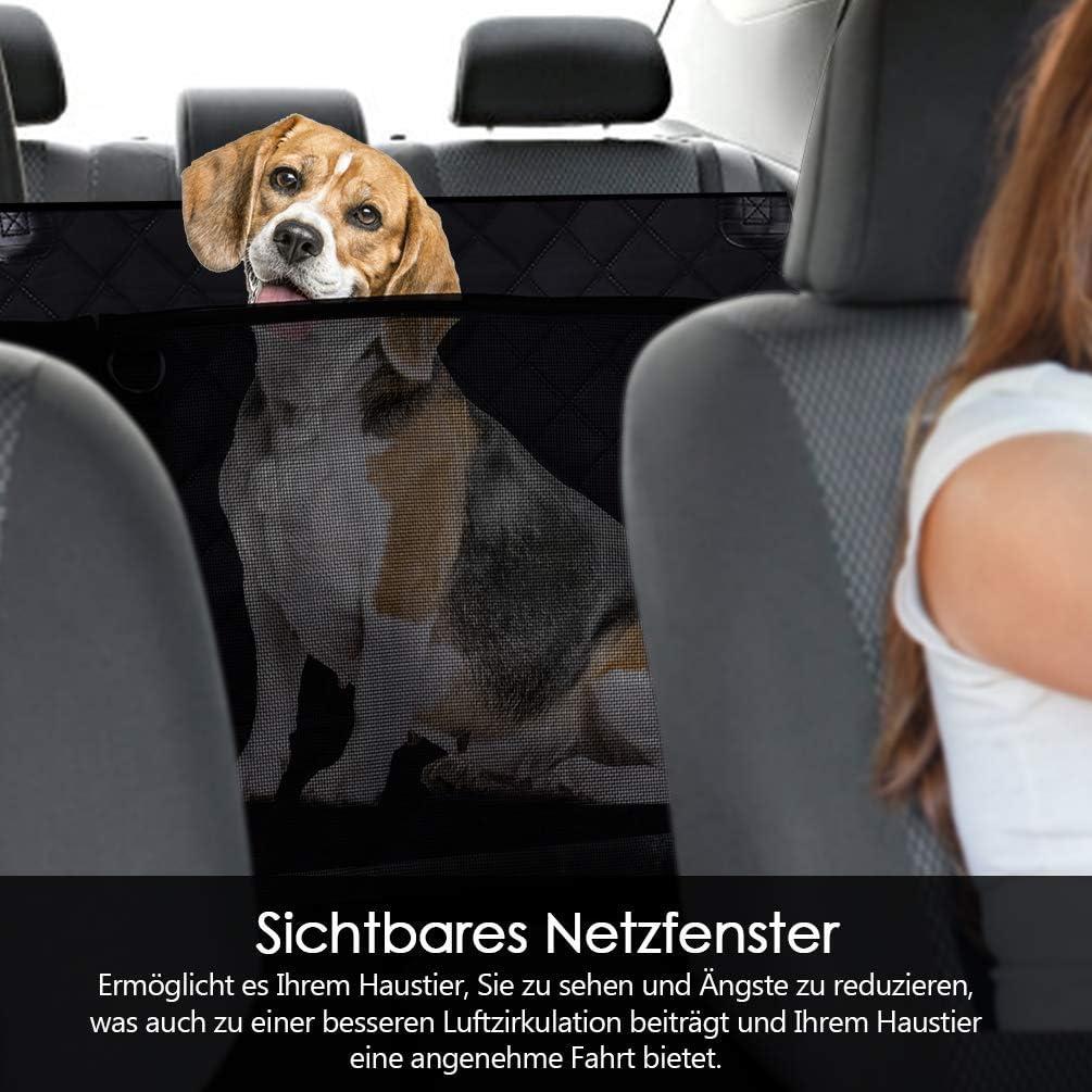 ventana visible,negro para mascotas Funda para asiento de mascotas a prueba de salpicaduras Petacc protector para asiento de coche resistente a los ara/ñazos a prueba de suciedad