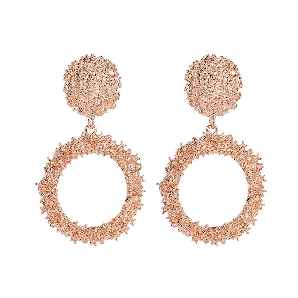 Clearance! Hot Sale! ❤ Elegant Charm Boho Statement Big Geometric Round Drop Dangle Stud Earrings Under 5 Dollars Valentine's Day Gifts for Girlfriend 2019 New