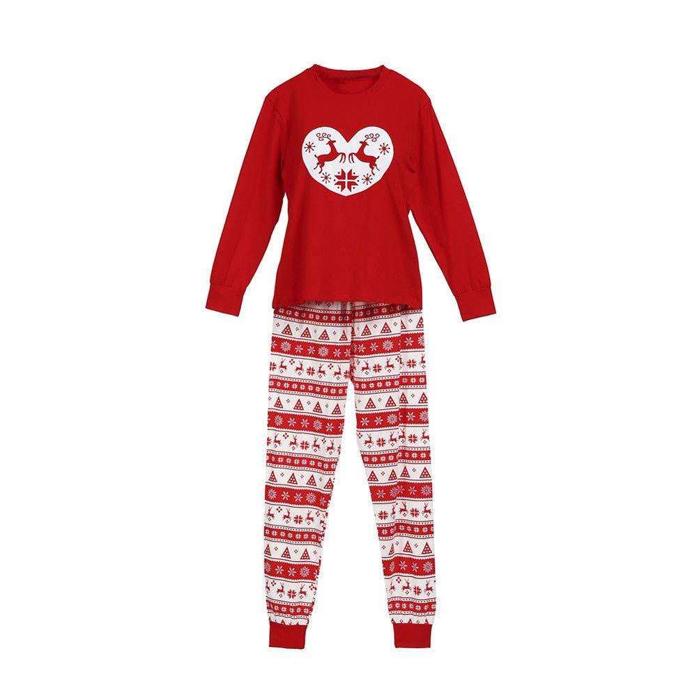 Novelty Christmas Family Pyjamas Men Sleepwear Long Sleeve , Top+Pants Xmas Nightwear Kids Print Outfits for Women