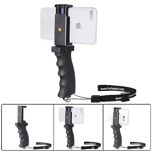 Fantaseal Smartphone Handheld Grip Holder, Cellphone Handle Grip Mount Selfie Stick Compatible for iPhone X/8+/8/7+/7/6S+/6S/ 6+/ 6/ 5S/ 5/ 5C/ 4S/ 4 / iPhone SE Nexus LG HTC Huawei ZTE Samsung etc